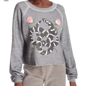 NWCOT Wildfox Snake Charmer Monte Crop Sweat. M?